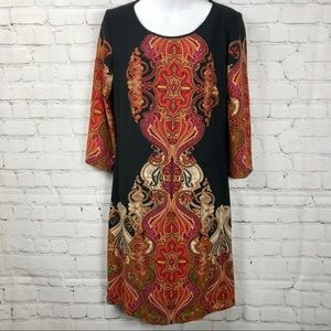 NWT MACY's Paisley Boho Pattern Knit Sheath Dress